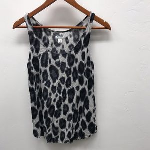 Animal Print Cotton Tank - M